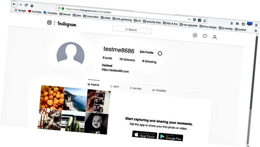 Ovako izgleda Instagram kada ga otvorite iz web preglednika