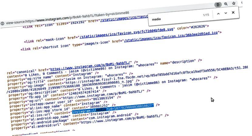 Medijski ID bilo kojeg posta možete dobiti iz izvornog koda