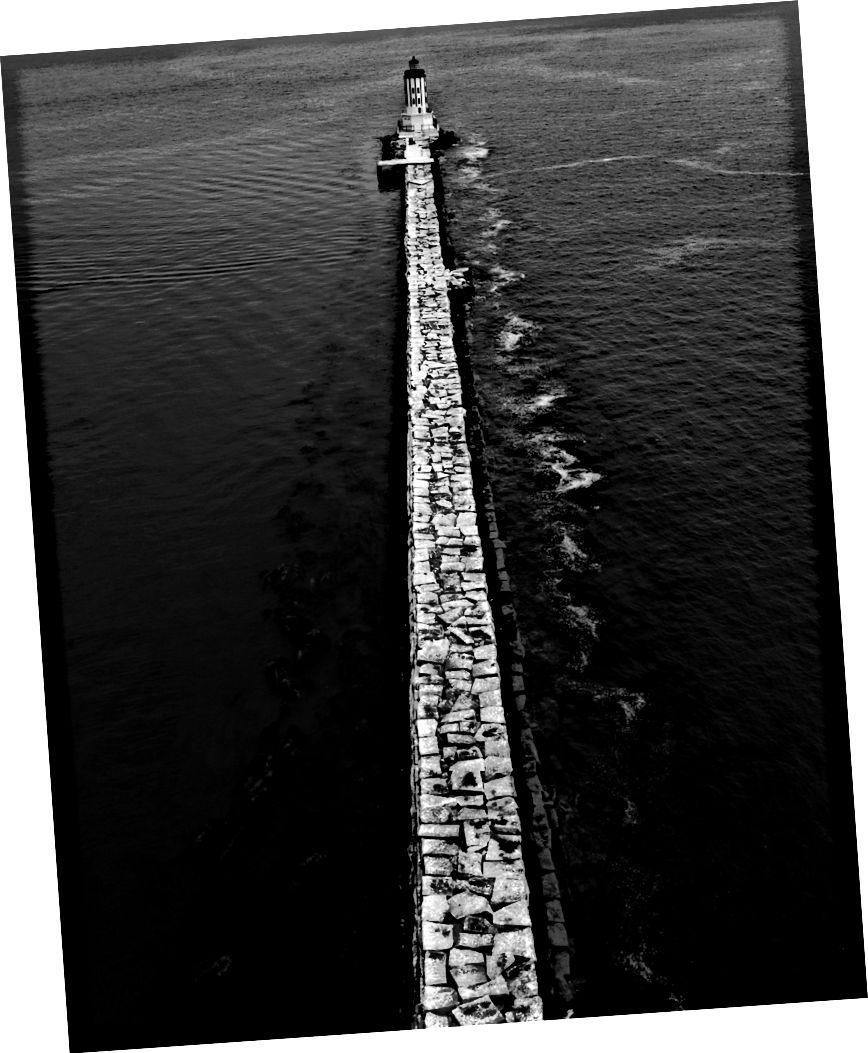 """""""Akta dig för klipporna."""" San Pedro, 2017. Av Josh S. Rose."""