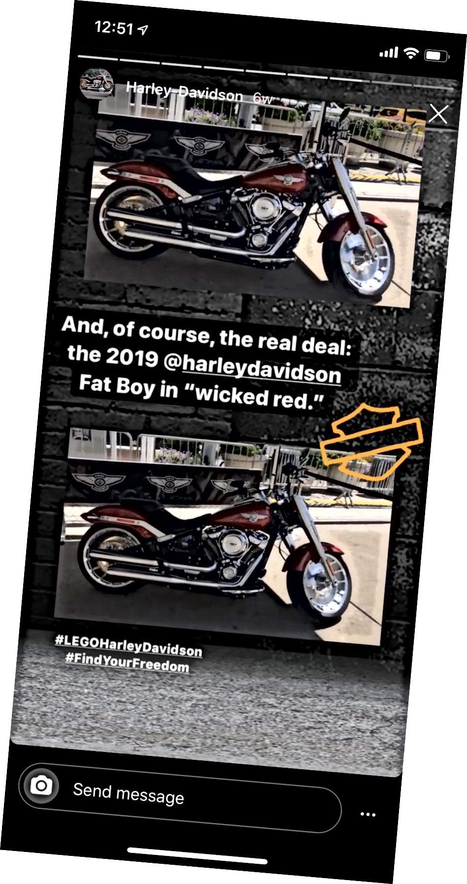 Instagram Stories fremhæver 'Harley Davidson' af @lego