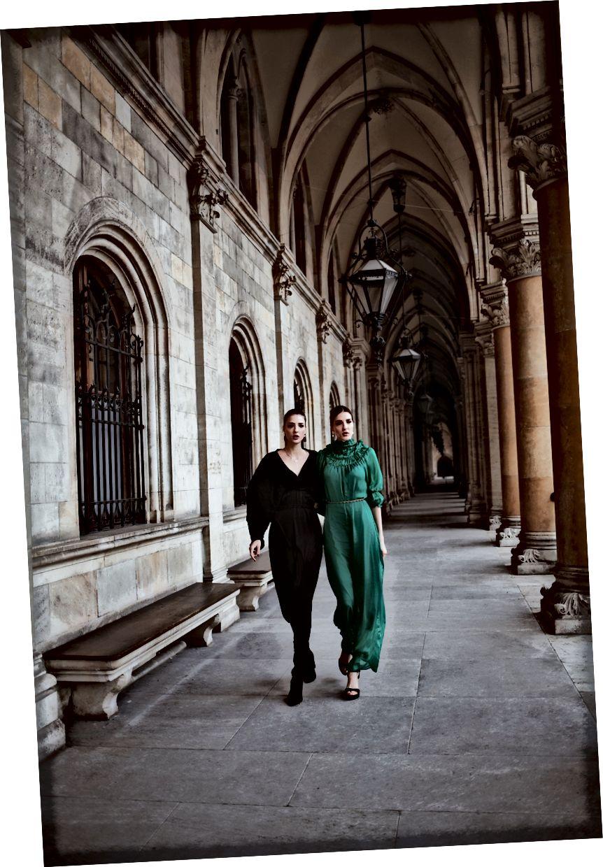 Des und Jen tragen das Stevie-Kleid und das Ali-Kleid von Bastet Noir, Foto von: Romar Ferry