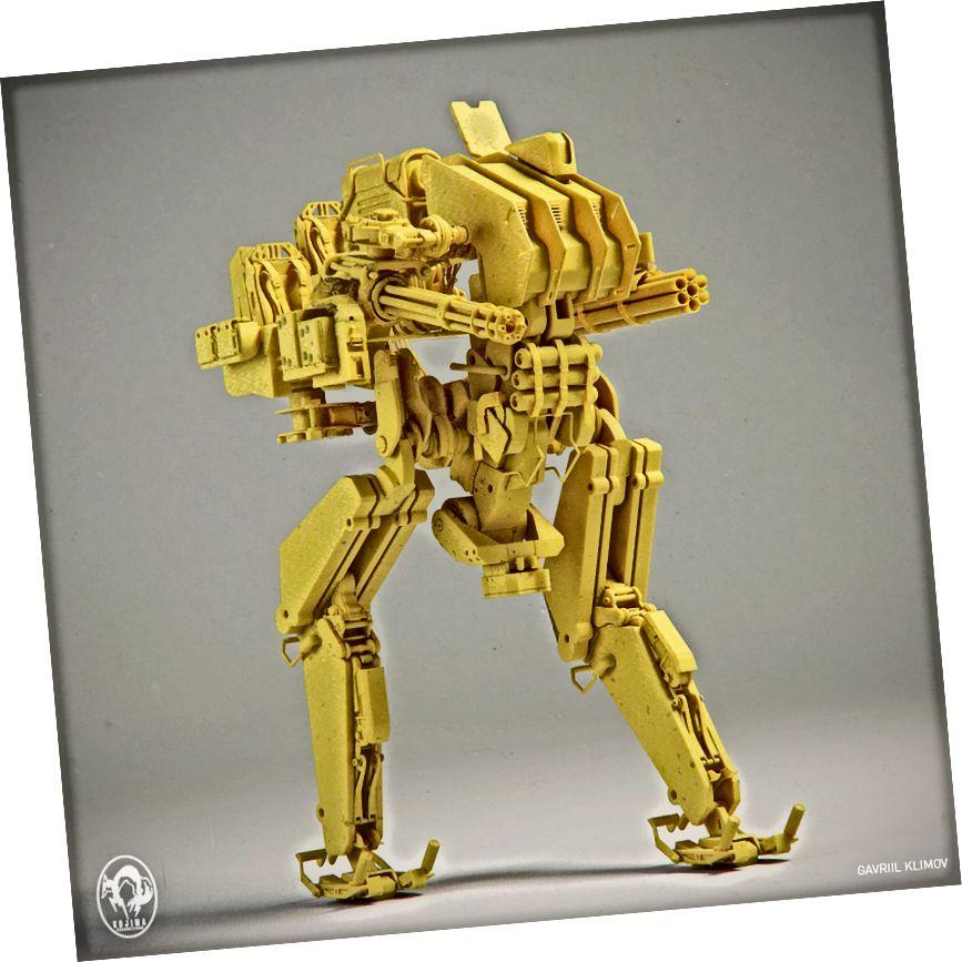 Jag arbetade på Metal Gear Solid V: The Phantom Pain som äldre konceptdesigner. Jag designade olika mekaniska koncept, robotar och rekvisita.