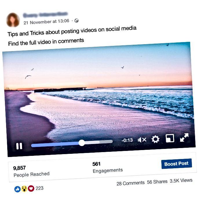Dela videor och dess länkar på olika plattformar som Facebook hjälper till att få fler visningar.
