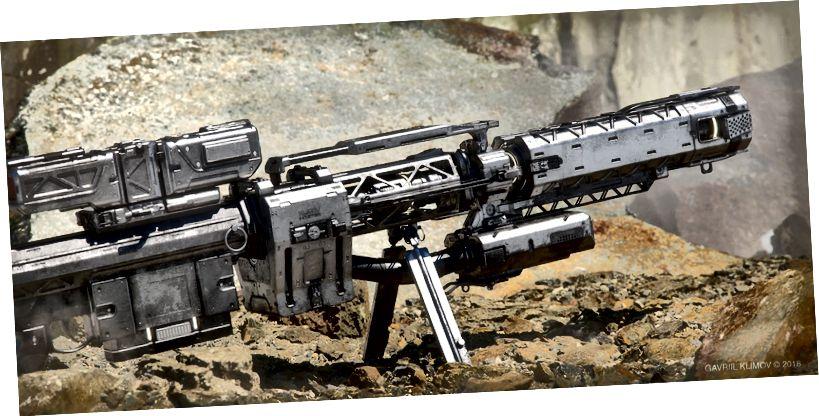 Denna sniperrifel skjuter en EMP-runda som tar bort alla sköldar och energi från varje enhet inom verkningsområdet