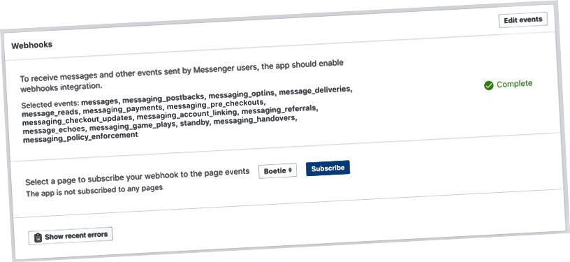 Wählen Sie Ihren Seitennamen aus der Dropdown-Liste und klicken Sie dann auf Abonnieren, um Ihre Seite zu abonnieren