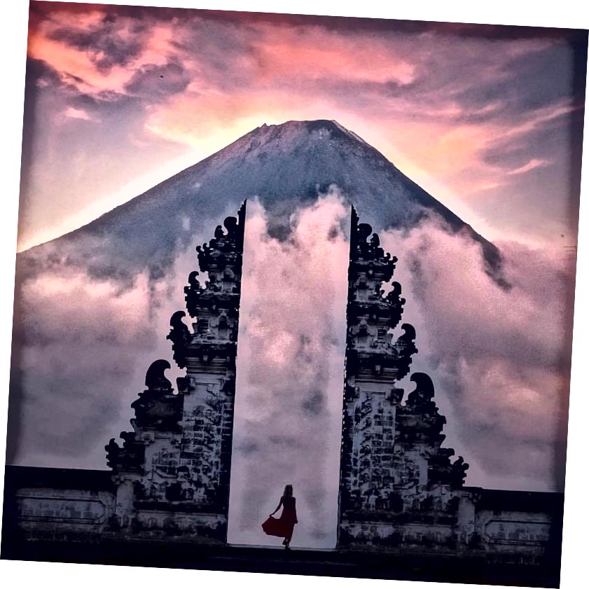 معبد Lempuyang في جولة بالي على Instagram
