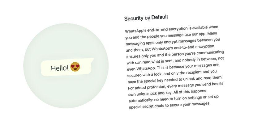 مقتطف من صفحة الأمان لموقع WhatsApp على الويب