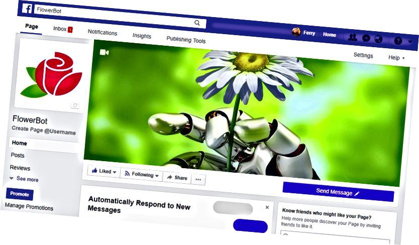 FlowerBot Facebook-sida