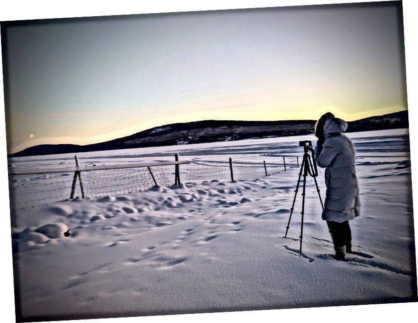 ممارسة تصوير الثلج في الشتاء السويدي