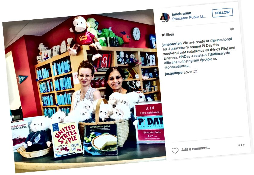 Questo post di @janebrarian ha tutto. Caratteristica del personale; esposizione di libri; promozione di eventi; menzionato l'account IG della biblioteca; usa hashtag.