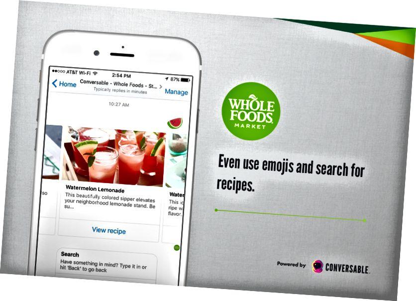Terved toidud Facebook Messengeris