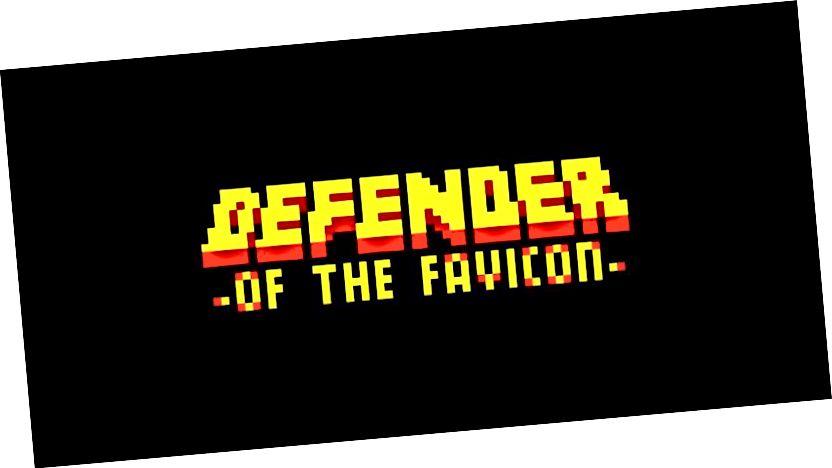 Branitelj Favicon uzima duhovne i estetske znakove iz retro arkadnih igara. (Izvor: PixFans)