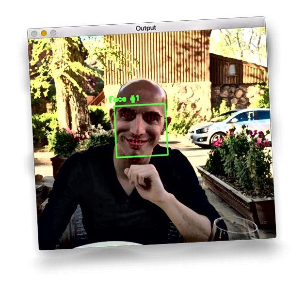 Orijentir lica od strane pyimagesearch.com