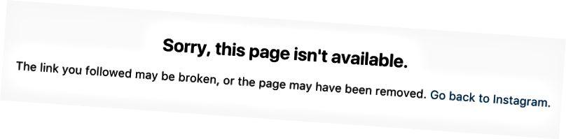Sidan du hittar när du söker i en förbjuden hashtagg