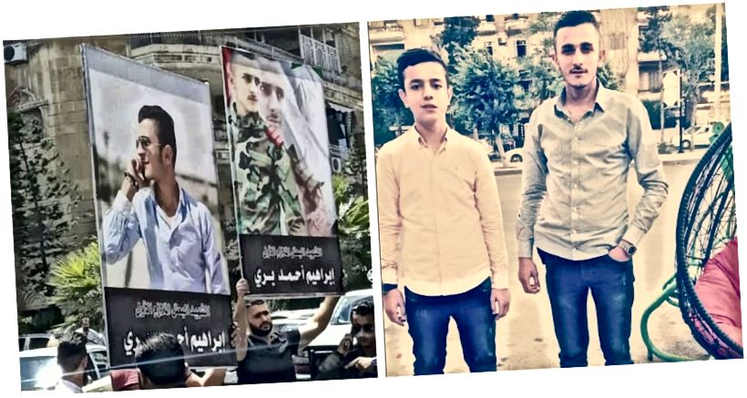 ເບື້ອງຊ້າຍ, ຮູບພາບຂອງ Mohamed Ahmad Berri ຂອງການປະທ້ວງທີ່ລະລຶກ; ສິດ, Mahmoud ແລະ Ibraheem Barri. (ທີ່ມາ: mohamedahmad.barri, ຊ້າຍ; mahmoud_barri0, ຂວາ)