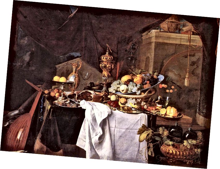 HE، Jan Davidsz مائدة من الحلويات ، 1640