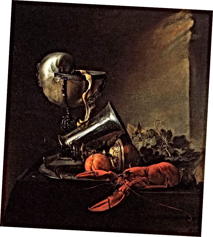 abhishekdekate و Still Life with Lobster and Nautilus-Cup HEEM، Jan Davidsz، 1634