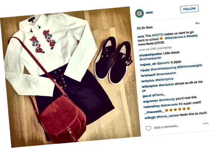 ASOS na Instagramu