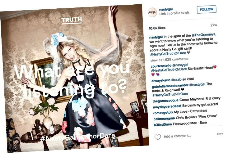 Nasty Gal su Instagram