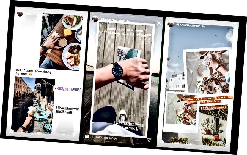 Lui Skagen îi place să comunice prin hashtag-uri speciale precum #mySKAGEN și #SKAGENsummer.