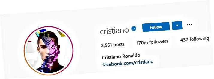 Cristiano Ronaldonun Instagram Bio