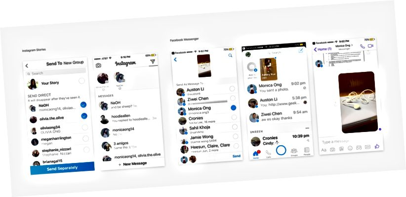 Ανάλυση ιστοριών Instagram Stories και Facebook Messenger Snapchat