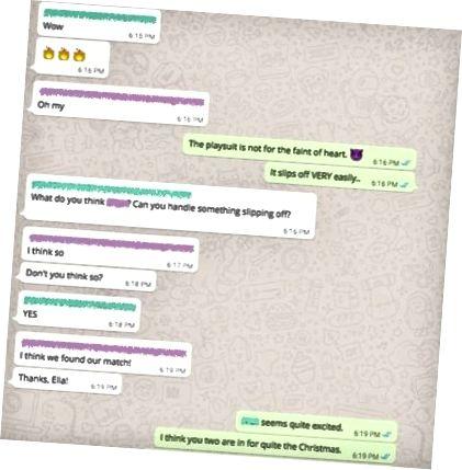 Snimak ekrana iz kampanje Ménage à Trois WhatsApp