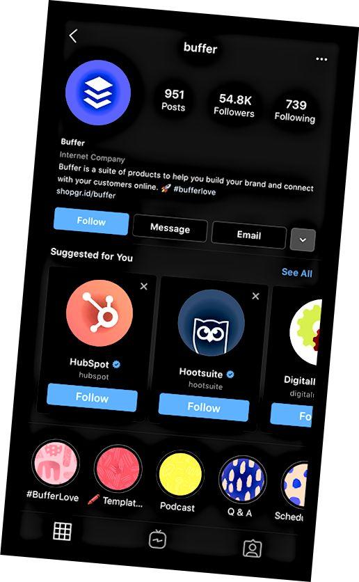 Instagram predlaže druge račune kako bi ih ljudi pratili