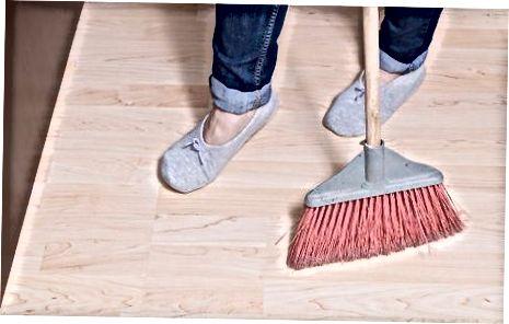 کف چوب های سخت را تمیز کنید