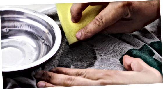 酢と食器用洗剤の使用