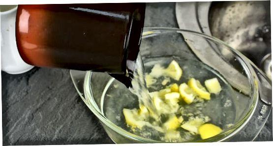 Een citroen gebruiken