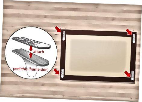 Verwenden von Klebestreifen für leichte Bilder