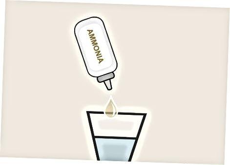 Fjernelse af pletter med ammoniak