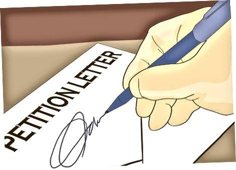 Depunerea unei petiții