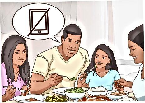 Adunarea membrilor de familie extinsă la deconectare
