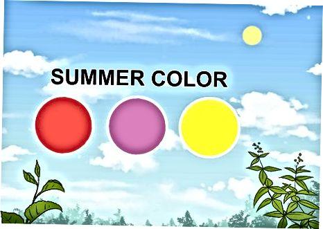 Selectarea culorilor care se potrivesc mediului