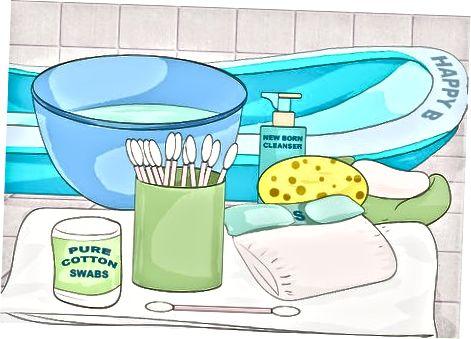 Curățarea ciotului ombilical