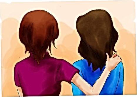 Prietenii reconfortanti dupa ce un prieten se pierde la sinucidere