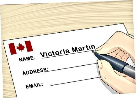 Schimbarea numelui în Canada