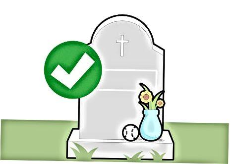 Grija pentru zona de înmormântare