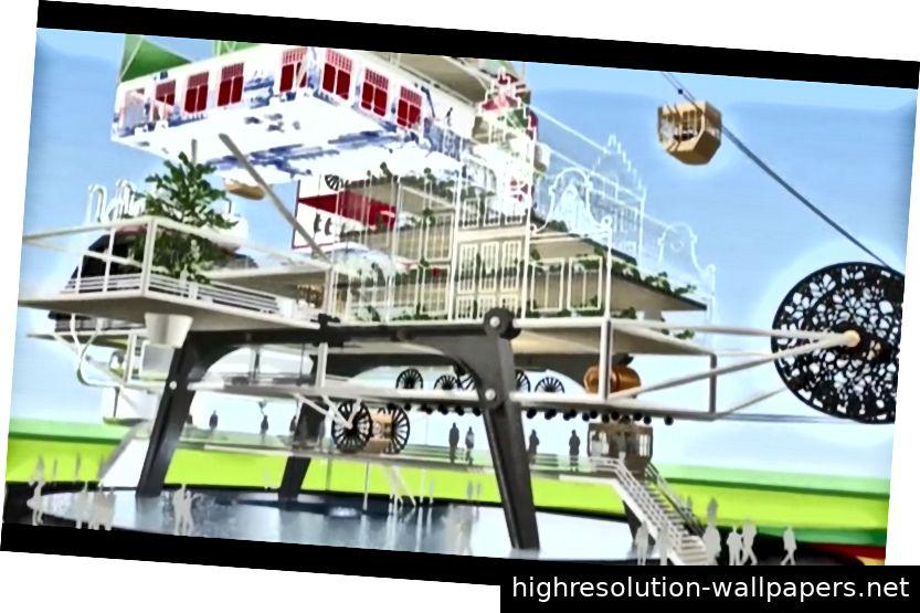Protofarm 2050. Frank Tjepkema ist der Gründer von Tjep. Designstudio in Amsterdam, das Protofarm 2050 als autarke Umgebung für 1, 100 oder 1 000 Personen entworfen hat. Protofarm 2050 wurde von ICSID vom 23. bis 25. November für den World Design Congress in Singapur in Auftrag gegeben. Die Aufgabe bestand darin, präventive Lösungen für vorhergesagte Probleme der Zukunft zu generieren. Frühere Design Indaba-Lautsprecher in Betrieb genommen - Futurefarmers, 5,5 Designer, Dunne & Raby, Revital Cohen und Frank Tjepkema - Protofarm 2050 befasst sich mit Fragen der Ernährungssicherheit und des einfallsreichen Umweltschutzes.