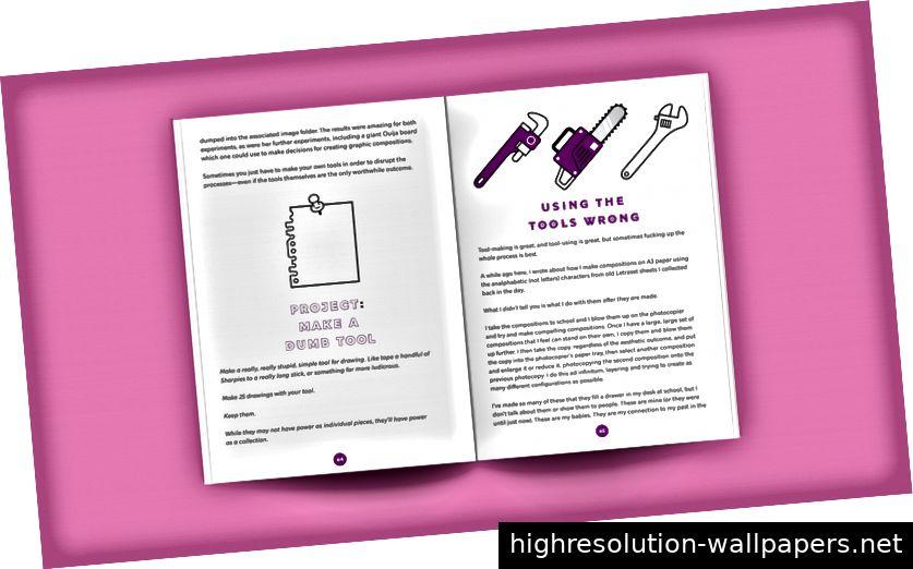 Das Buch enthält viele lustige Projekte, um Ihre Kreativität zu reaktivieren.