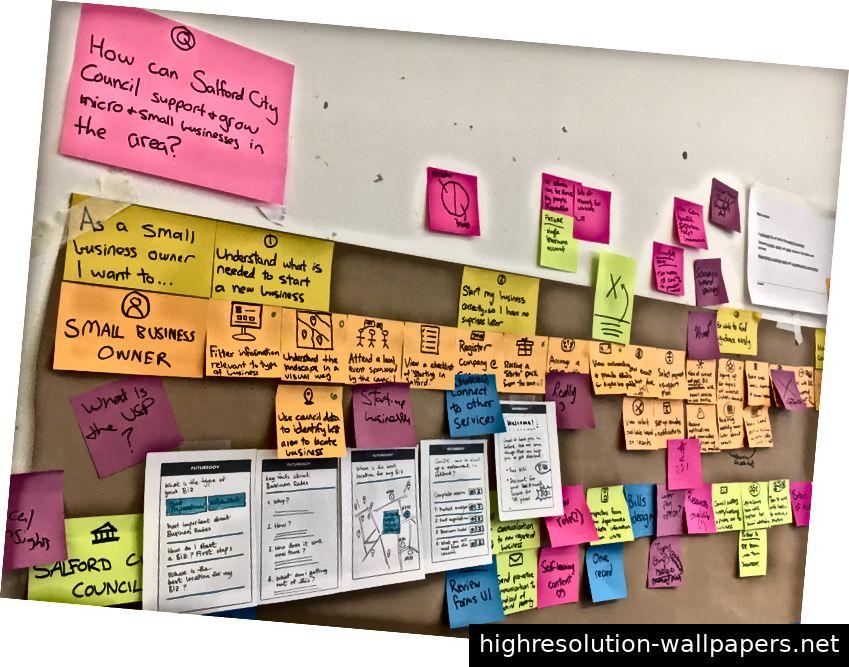 Rahmen für die Frage nach einem Projekt in Salford, um eine zukünftige Karte einzuführen.