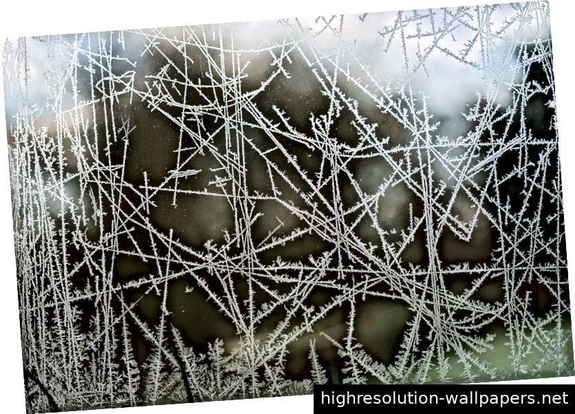 Eis bildet sich nicht bei null Grad Celsius, weil die Wassermoleküle plötzlich klebriger werden. Vielmehr sinkt die durchschnittliche kinetische Energie der Moleküle so niedrig, dass die abstoßenden und anziehenden Kräfte unter ihnen in ein neues, federnderes Gleichgewicht fallen - John Rennie