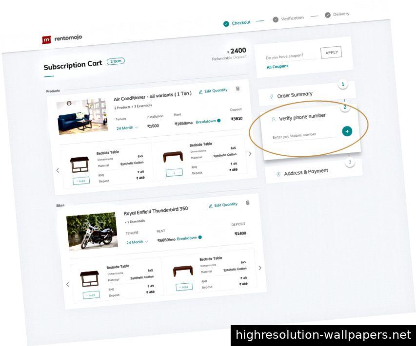 Mobile Bestätigungs-UX für die Anmeldung oder Anmeldung