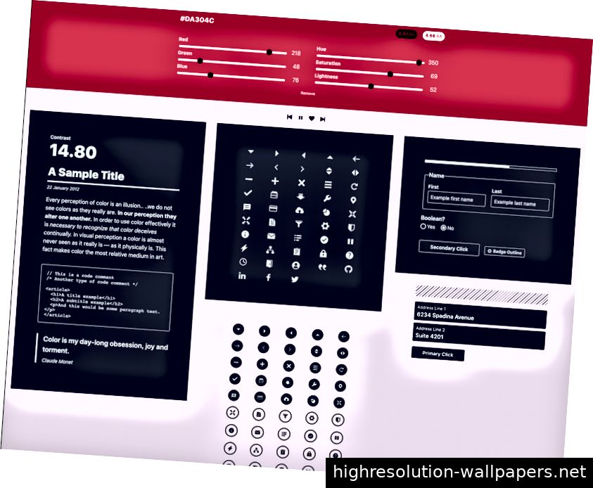 Screenshot des Color-Tools von Cloudflare Design