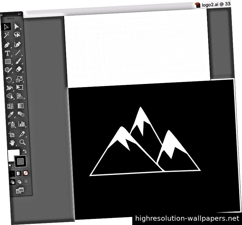 Logo Mountain Designed mit Adobe Illustrator