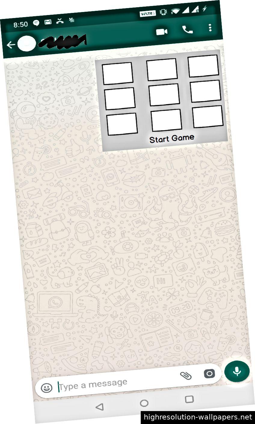Bildschirm 5: Das eingebettete Spiel