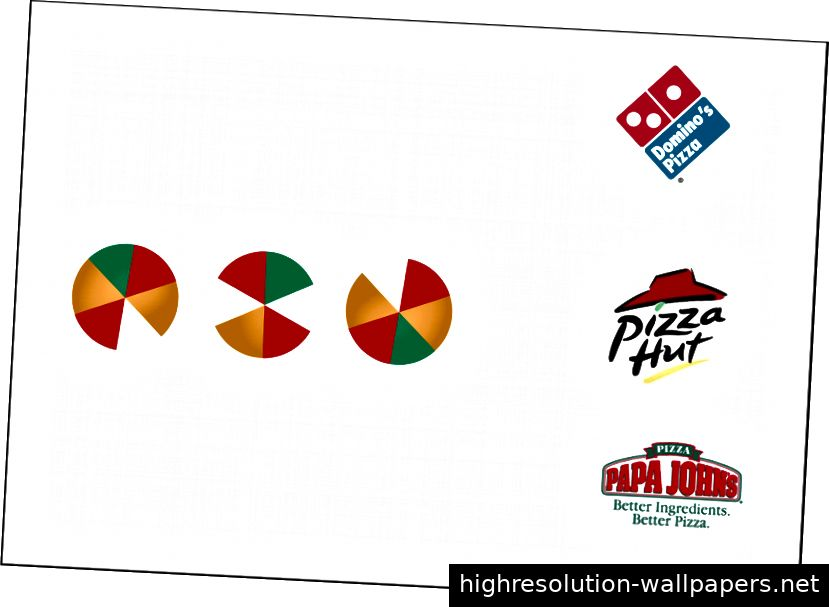 OXO - Logoentwurf für eine Pizzeria mit den Bauhausformen.