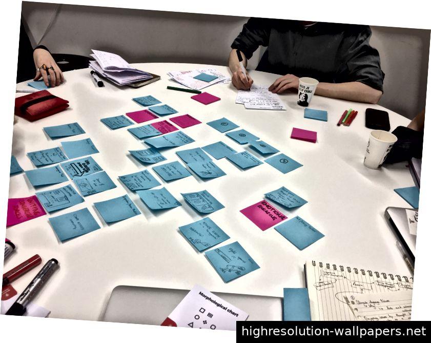 Brainstorming für den letzten Prototyp